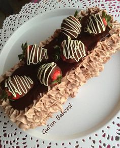Chocolate cake with strawberry!!
