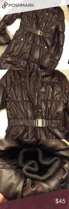 H&M BROWN Shiny Nylon Puff Down Coat SZ 8 Like New...Really Worn Once. H&M BROWN Shiny Nylon Puff Down Coat SZ 8.  Please Note this is the Brown not the Black. Picture is just to reference fit and style H&M Jackets & Coats Puffers