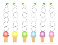 Ice Cream Sticker / Piano Practice Chart. This would make a great summer piano challenge tracking page (and you can reward with an ice cream cone once it's full!)