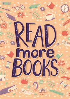Illustrated bookish quotes on Behance