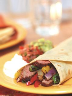 Grilled Steak and Pepper Fajitas Recipe - an easy dairy-free, gluten-free dinner with paleo option!