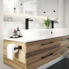 Shelf behind sink
