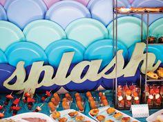 Splish Splash, its a Mermaid Birthday Bash!a mermaid scales plate backdrop