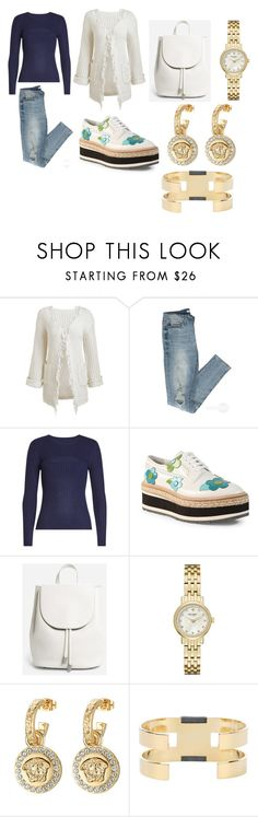 """""""Untitled #1066"""" by zoezzuver ❤ liked on Polyvore featuring Frame, Prada, Everlane, Kate Spade, Versace and Isabel Marant"""