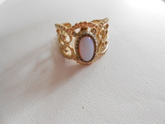 Vintage ring Sarah Coventry ring 1960s ring signed by denise5960, $27.00