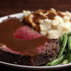 Prime Rib With Garlic Herb Butter Recipe by Tasty - Prime rib - Prime Ribs Tasty Videos, Food Videos, Recipe Videos, Cooking Videos, Rib Recipes, Cooking Recipes, Sirloin Recipes, Kabob Recipes, Fondue Recipes