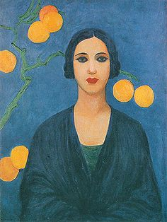 Tarsila do Amaral  (Brazilian, 1886 -1973) - Figure in blue, 1923