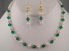 Swarovski Crystal Jewelry Home Page - View Beautiful Designs Swarovski Jewelry, Pearl Jewelry, Crystal Jewelry, Wedding Jewelry, Swarovski Crystals, Silver Jewelry, Irish Jewelry, Crystal Bead Necklace, Engagement Jewelry