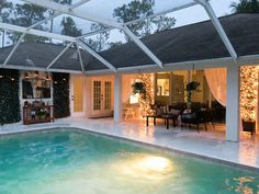 Patio, pool and lanai decor ideas on a budget-twinkle lights