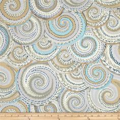 Kaffe Fassett Spring 2014 Collective Quarry Curly Baskets Silver from @fabricdotcom  Designed by Philip Jacobs for Westminster Fabrics, this cotton print is perfect for quilting, apparel and home decor accents. Colors include grey, blue, ivory and moss.