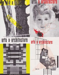 Arts & Architecture covers 1945-1946 (http://www.artsandarchitecture.com/issues/index.html)