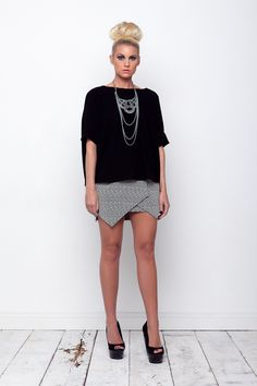 waterfall top and herringbone skirt <3 www.kendelle.com <3