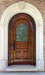 Chicago Home with Custom Arched Door and Glass