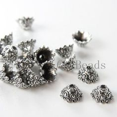 20pcs-Oxidized-Silver-Tone-Base-Metal-Findings-Cap-12x7mm-13355Y-T-1A