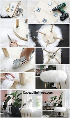 Fantastic Pics How to make a Furry Stool Golden Legs Popular Purchasing a well-designed sofa is a large choice and not merely one to create lightly. Here we ha Fantastic Furry golden Legs Pics Popular Stool 784400460086359490 Diy Para A Casa, Diy Casa, Diy Home Crafts, Diy Crafts To Sell, Diy Projects To Decorate Your Room, Furniture Makeover, Diy Furniture, Diy Mirrored Furniture, Diy Décoration