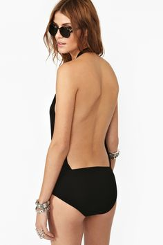 Plunging Wrap Bodysuit in What's New at Nasty Gal