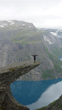 Trolltunga, Norway, August 2012.