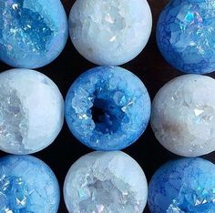 aesthetic, blue, crystals, deep blue, pastel, tumblr - image #3753187 ...