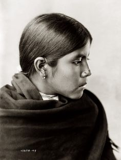 Edward S. Curtis: Qahatika girl, Arizona, 1907 | by trialsanderrors