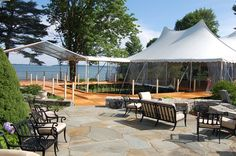 Ceremony and Reception tent and walkway