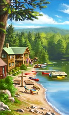 Scenery Image from Camp Discovery. A good idea for what kind of setting this VBS will be in. #CampDiscoveryVBS #VBS #VBSDecorating