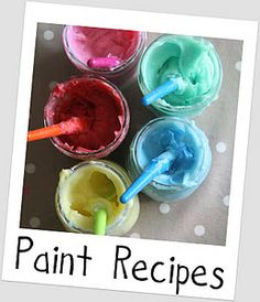 Homemade Edible/Nontoxic Finger Paint (and links to other fun activities)