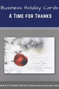 Recognize those who make your business a success this holiday season with this elegant A Time for Thanks greeting card. Personalized on the front and inside, you select the verse. Click now to shop this design and many more company Christmas cards. Company Christmas Cards, Business Christmas Cards, Corporate Holiday Cards, All Holidays, Special Holidays, Message For Teacher, Thanks Greetings, Holiday Messages, Red Ornaments