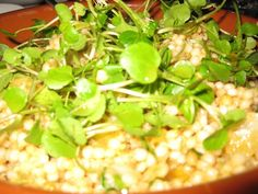 Israeli cous cous with Dates, Almonds and Apricots. Part of the 3 course #vegan meal from Cloudland, Brisbane