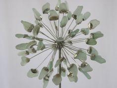 Mar cristal Allium flor Metal vidrieras por SaraLeGrisCreations