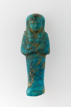 Worker Shabti of Henettawy (C), Daughter of Isetemkheb - Period: Third Intermediate Period Dynasty: Dynasty 21 Date: ca. 990–970 B.C. Geography: From Egypt, Upper Egypt; Thebes