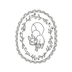 Fox Embroidery Pattern Woodland Animal by teenytinyhappythings