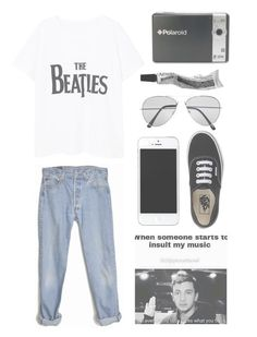 """not even blurryface"" by fairly-local-on-the-radio ❤ liked on Polyvore featuring MANGO, Levi's, Pull&Bear, Polaroid and Vans"