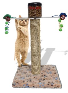 Vet Recommended for Weight loss Toy / Cat cats have to work for their food / Great for over weight / obese / Diabetes Animals get to climb and play to earn their treat or food. >>> Click on the image for additional details. (This is an affiliate link and I receive a commission for the sales) #CatLovers