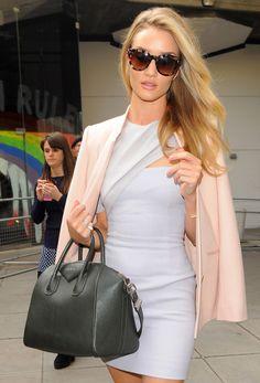 dbe9755defa070 Celebrities and Their Givenchy Antigona Bags: A Retrospective - PurseBlog  ... Rosie Huntington