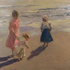 Niñas en la playa, 1908 #ColeccionParticular #UnaObraDeSorolla
