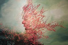Paintings based on double exposures, by Pakayla Biehn.