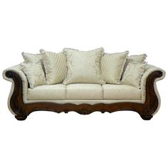 Found it at www.dcgstores.com - ♥ ♥ Kate Sleigh Style Sofa - Carved Wood, Madison Straw ♥ ♥