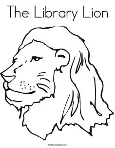 The Library Lion Coloring Page That You Can Customize And Print For Kids