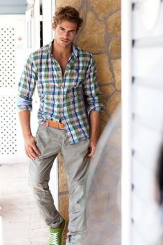 ☼ Life by the sea - Jacey Elthalion, Male model men's summer casual wear
