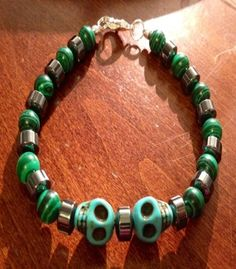 Mens Most Stunning Green Malachite With by BranstoneMagicMaster, $45.00