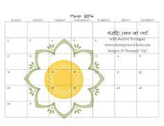 2014 MDS Digital Calendar Class Stampin' Up! - Stamp Your Art Out! www.stampyourartout.com