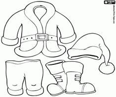 Best Santa Claus clothes coloring pages. Childrens Christmas Crafts, Christmas Paper Crafts, Handmade Christmas Gifts, Holiday Crafts, Christmas Ornaments, Fabric Doll Pattern, Fabric Dolls, Fall Essential Oils, Crafts With Pictures
