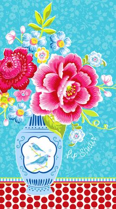Shop for the colourful and floral collections of homeware by Pip Studio online. Summer Patterns, Flower Patterns, Print Patterns, Illustrations, Illustration Art, Wallpaper Backgrounds, Iphone Wallpaper, Decoupage, Backgrounds