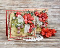 Wild Orchid Crafts: My first Christmas cards this year