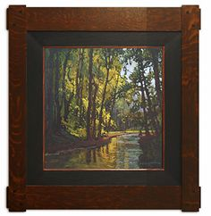 "Jan Schmuckal - ""What Peace There Is In Silence"" - 12x12 - Original Oil - Arts & Crafts - Craftsman - Dard Hunter Studio Frame - Bungalow"