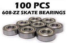 100 608-2ZZ ZZ 608ZZ Skateboard/Inline Skate Bearings