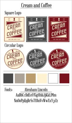 Cream and Coffee branding guide designed by Tyler Rountree at Rountree Design Co. https://www.tylerrountree.com #design #business #branding #logo #color #patterns #coffee #espresso