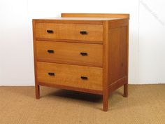 Heal's Oak Chest Of 3 Drawers - Antiques Atlas
