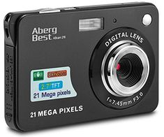 AbergBest 21 Mega Pixels LCD Rechargeable HD Digital Camera,Video camera Digital Students cameras,Indoor Outdoor for Adult/Seniors/Kids (Black) – Shopping Guide Camera Pouch, 3d Camera, Cheap Camera, Camera Tips, Gopro, Best Camera For Photography, Photography Gear, Landscape Photography, Portrait Photography