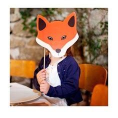 masque renard en carton, masque pour enfants